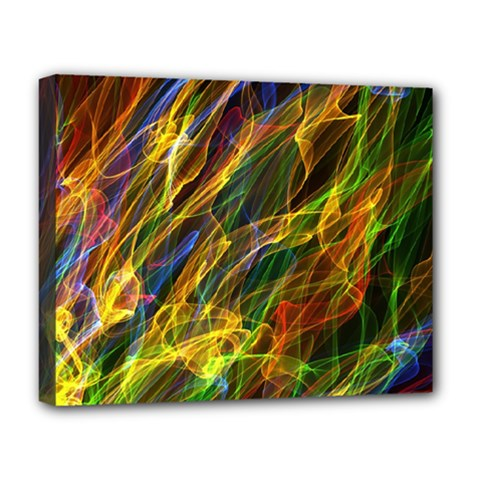 Abstract Smoke Deluxe Canvas 20  X 16  (framed) by StuffOrSomething