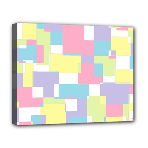 Mod Pastel Geometric Deluxe Canvas 20  X 16  (framed) by StuffOrSomething