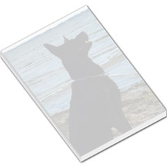 Black German Shepherd Large Memo Pad by StuffOrSomething