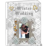 Winter Wedding delux 9x12 photo book - 9x12 Deluxe Photo Book (20 pages)