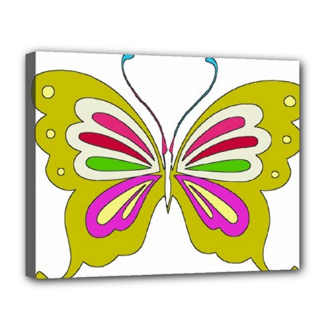 Color Butterfly  Canvas 14  X 11  (framed) by Colorfulart23