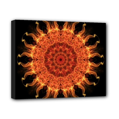Flaming Sun Canvas 10  X 8  (framed) by Zandiepants