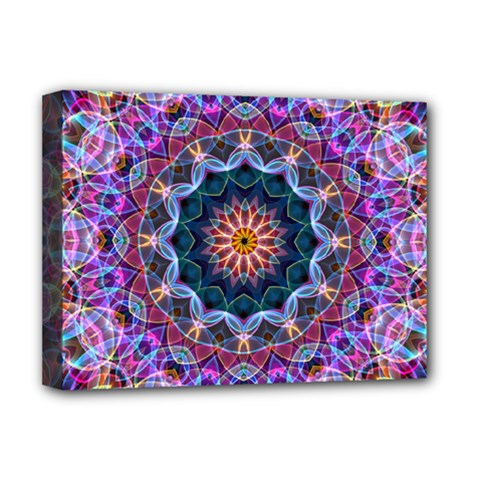 Purple Lotus Deluxe Canvas 16  X 12  (framed)  by Zandiepants