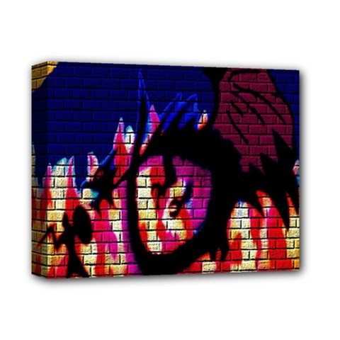 My Dragon Deluxe Canvas 14  X 11  (framed) by Rbrendes