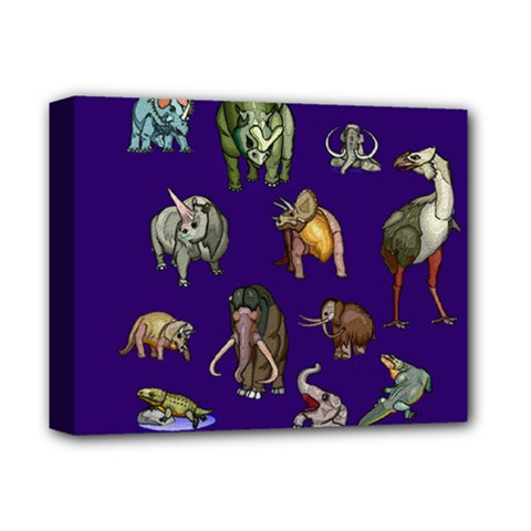 Dino Family 1 Deluxe Canvas 14  X 11  (framed) by Rbrendes