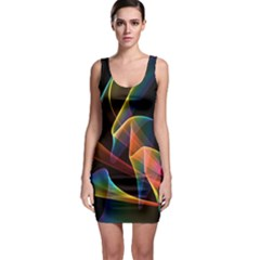 Crystal Rainbow, Abstract Winds Of Love Bodycon Dress by DianeClancy