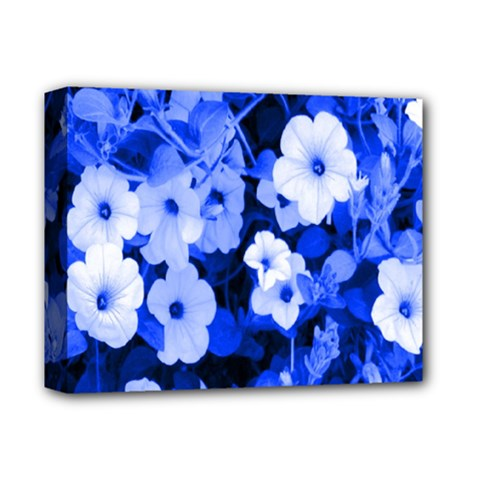 Blue Flowers Deluxe Canvas 14  X 11  (framed) by Rbrendes