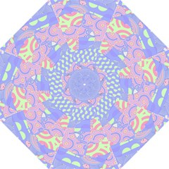 Girls Bright Pastel Summer Design Blue Pink Green Straight Umbrella by CrypticFragmentsColors