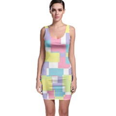Pastel Geometrics Bodycon Dress