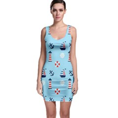 Nautical Harbor Bodycon Dress by StuffOrSomething