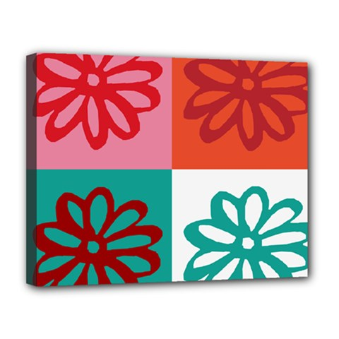Flower Canvas 14  X 11  (framed) by Siebenhuehner