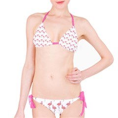 Pink Flamingo Pattern Bikini by CrypticFragmentsColors
