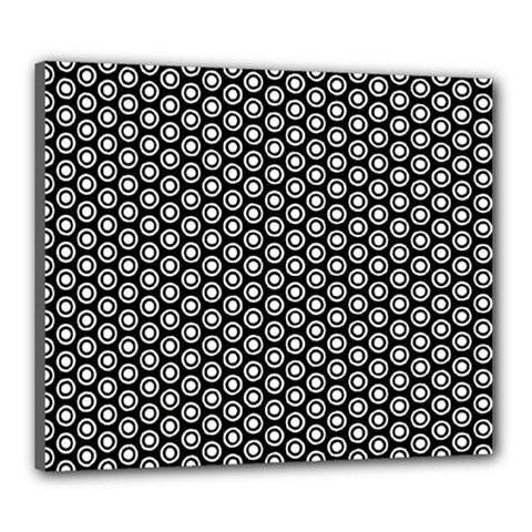 Groovy Circles Canvas 24  X 20  (framed)