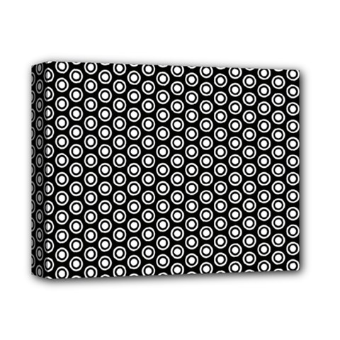 Groovy Circles Deluxe Canvas 14  X 11  (framed) by StuffOrSomething