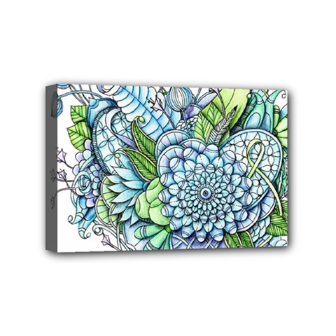 Peaceful Flower Garden 2 Mini Canvas 6  X 4  (framed) by Zandiepants