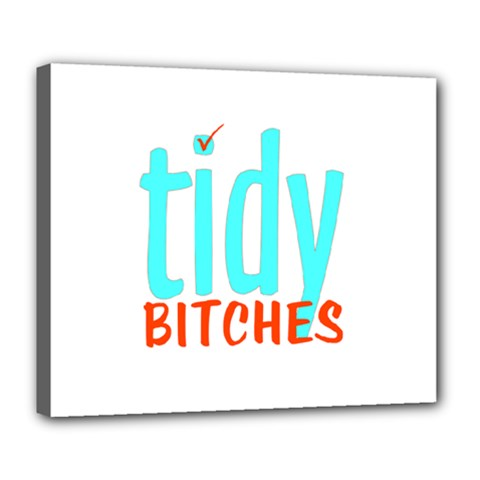 Tidy Bitcheslarge1 Fw Deluxe Canvas 24  X 20  (framed) by tidybitches