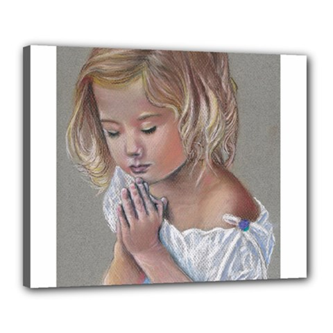 Prayinggirl Canvas 20  x 16  (Framed) by TonyaButcher