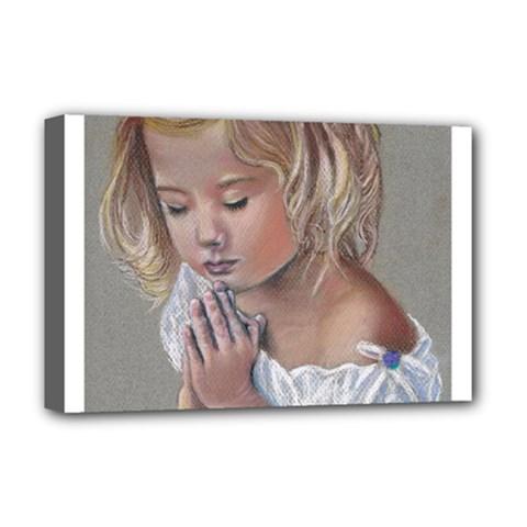 Prayinggirl Deluxe Canvas 18  X 12  (framed) by TonyaButcher