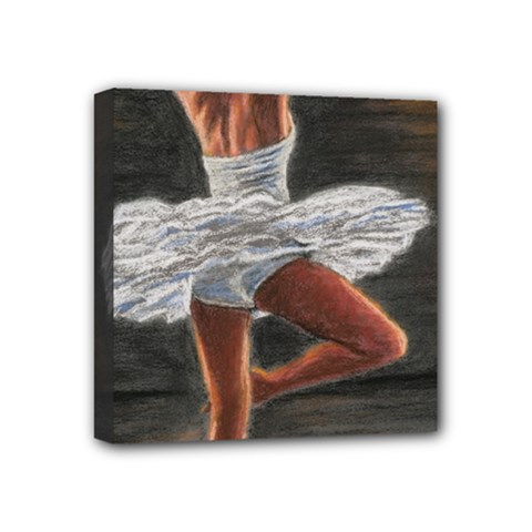 Ballet Ballet Mini Canvas 4  X 4  (framed)