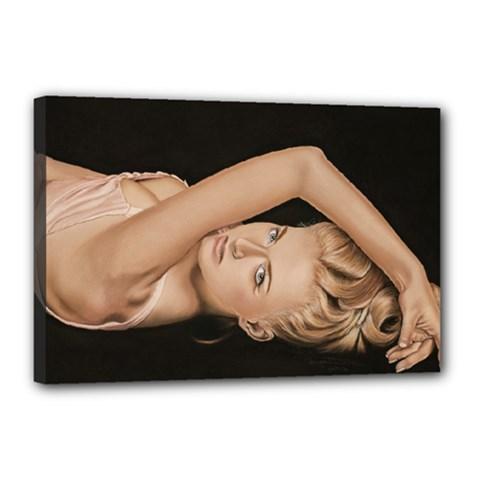 Alluring Canvas 18  x 12  (Framed)