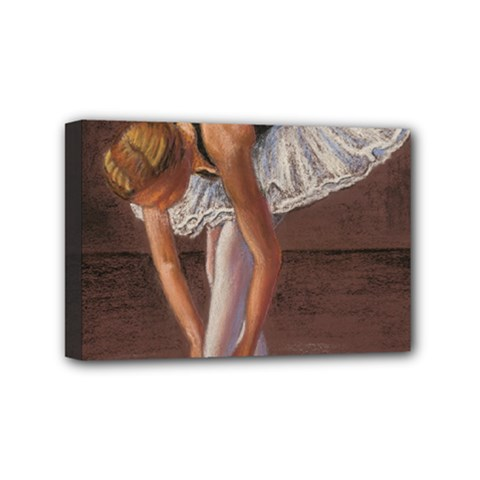Ballerina Mini Canvas 6  X 4  (framed)