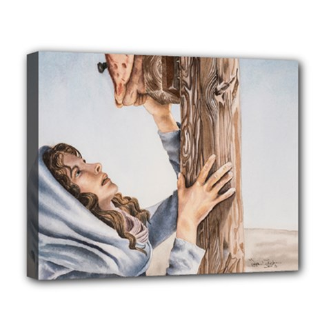 Stabat Mater Deluxe Canvas 20  X 16  (framed) by TonyaButcher