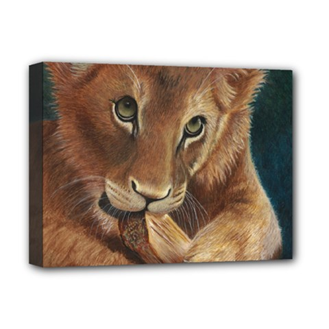 Playful  Deluxe Canvas 16  X 12  (framed)  by TonyaButcher