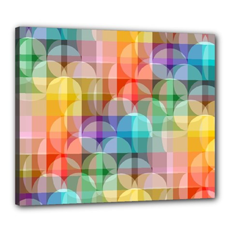 Circles Canvas 24  X 20  (framed) by Lalita