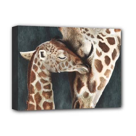 A Mother s Love Deluxe Canvas 16  X 12  (framed)