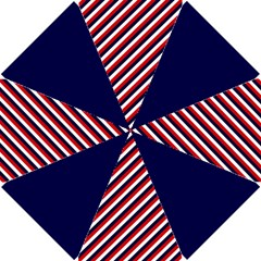 Diagonal Patriot Stripes Golf Umbrella by StuffOrSomething