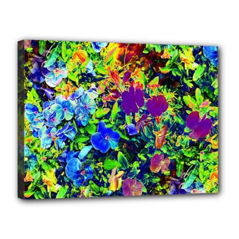 The Neon Garden Canvas 16  X 12  (framed) by rokinronda