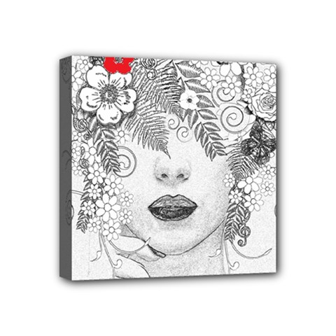 Flower Child Mini Canvas 4  X 4  (framed) by StuffOrSomething
