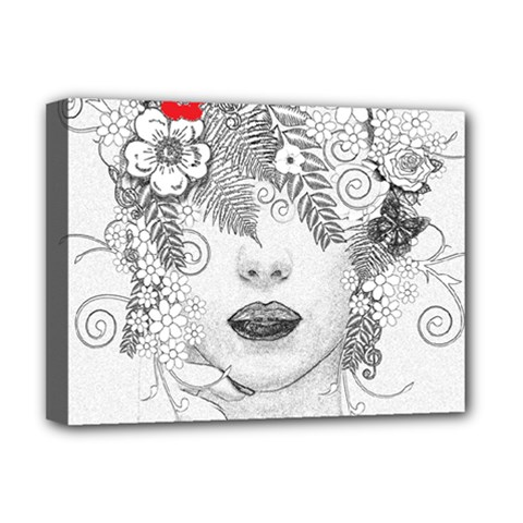 Flower Child Deluxe Canvas 16  X 12  (framed)  by StuffOrSomething