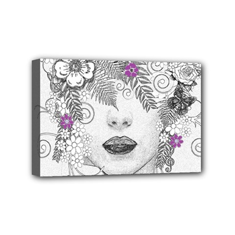 Flower Child Of Hope Mini Canvas 6  X 4  (framed) by FunWithFibro