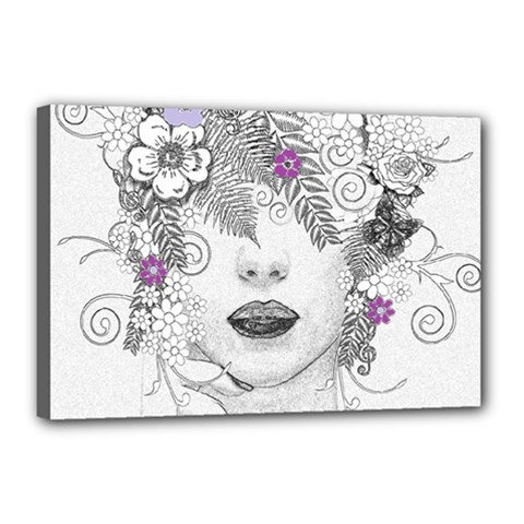 Flower Child Of Hope Canvas 18  X 12  (framed) by FunWithFibro