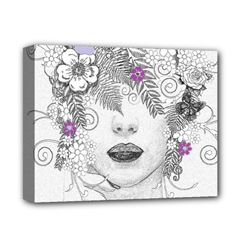 Flower Child Of Hope Deluxe Canvas 14  X 11  (framed) by FunWithFibro