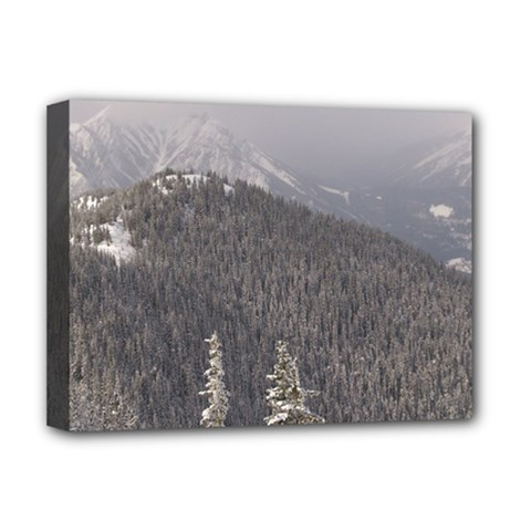 Mountains Deluxe Canvas 16  X 12  (framed)  by DmitrysTravels