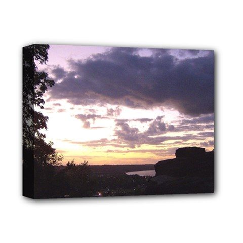 Sunset Over The Valley Deluxe Canvas 14  X 11  (framed) by Majesticmountain