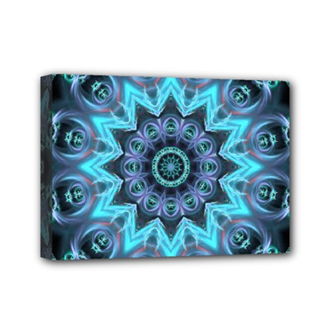 Star Connection, Abstract Cosmic Constellation Mini Canvas 7  X 5  (framed) by DianeClancy