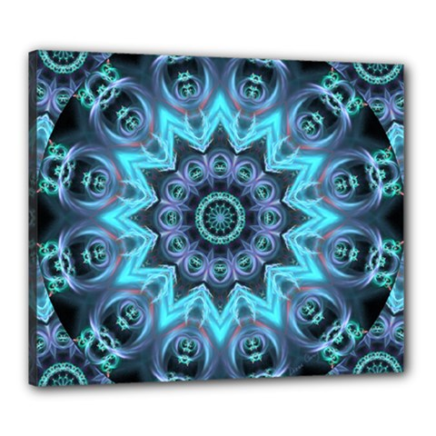 Star Connection, Abstract Cosmic Constellation Canvas 24  X 20  (framed) by DianeClancy