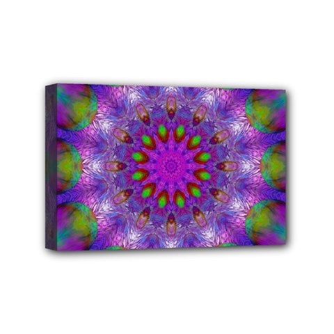 Rainbow At Dusk, Abstract Star Of Light Mini Canvas 6  X 4  (framed) by DianeClancy