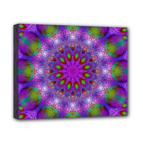 Rainbow At Dusk, Abstract Star Of Light Canvas 10  X 8  (framed) by DianeClancy