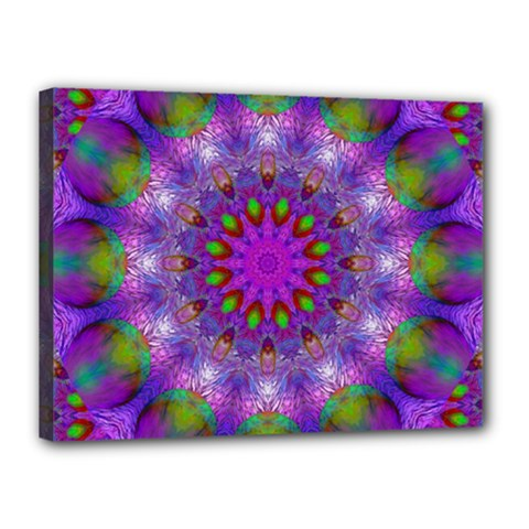 Rainbow At Dusk, Abstract Star Of Light Canvas 16  X 12  (framed) by DianeClancy