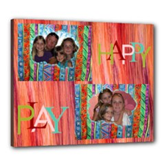 HappyPlay 24x20 stretched canvas - Canvas 24  x 20  (Stretched)