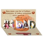 Basketball Father - #1 DAD 3D Greeting Card (8x4)