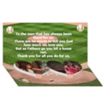 Baseball Fathers Day Card - Twin Heart Bottom 3D Greeting Card (8x4)