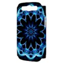 Crystal Star, Abstract Glowing Blue Mandala Samsung Galaxy S III Hardshell Case (PC+Silicone) View3