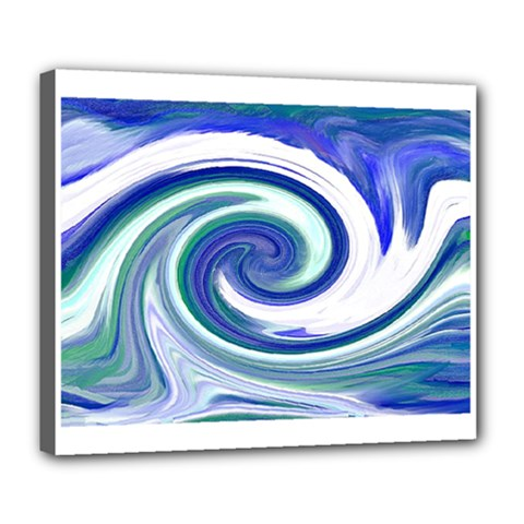 Abstract Waves Deluxe Canvas 24  X 20  (framed) by Colorfulart23