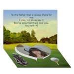 Golf single heart Father s Day Card - Heart Bottom 3D Greeting Card (7x5)