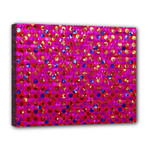 Polka Dot Sparkley Jewels 1 Canvas 14  X 11  (framed) by MedusArt